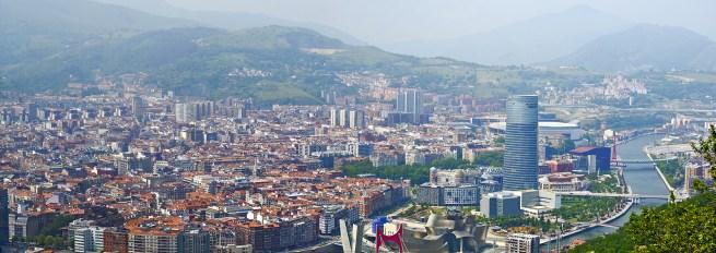 Panorámica Bilbao El botxo monte Artxanda