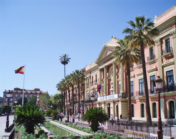 Glorieta de España fachada ayuntamiento Murcia
