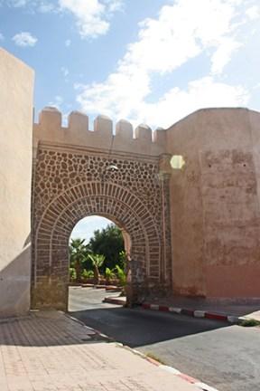 Bab Doukkala puerta entrada ladrillo rojo medina Marrakech