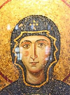 Virgen María mosaico Mezquita Santa Sofía Estambul