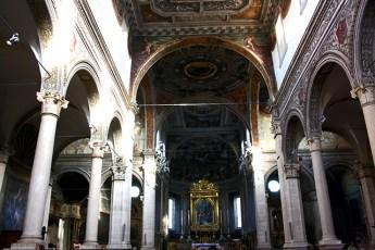 Interior catedral barroco siglo XVII Ferrara