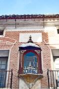 Altar escultura religiosa fachada vivienda Caravaca de la Cruz Murcia