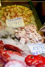 Pescado fresco carrillera kokotxas Mercado La Ribera Bilbao