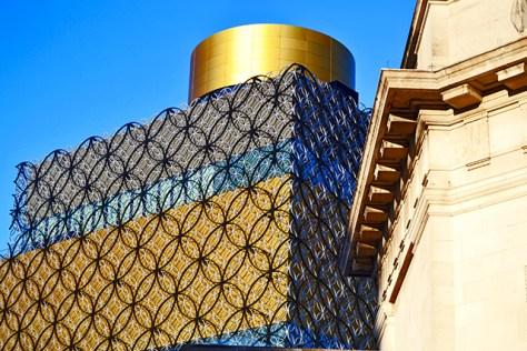 Fachada arcos dorados Biblioteca Pública Birmingham