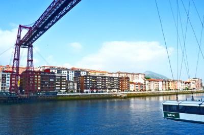 Lateral vistas Puente Colgante Bizkaia Portugalete