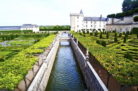 Río y jardines geométricos Villandry Francia