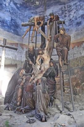 Esculturas capilla descendimiento cruz Jesús Monasterio Bom Jesus do Monte Braga
