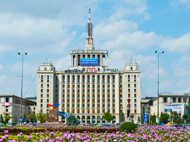 Edificio soviético Casa de la Prensa Bucarest