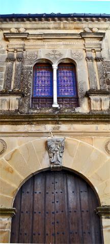 Puerta entrada Casa Acuña Manierismo siglo XVI Baeza Jaén