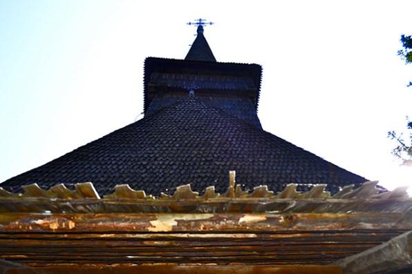 Iglesia madera región interior Rumanía Museo de la Aldea Bucarest