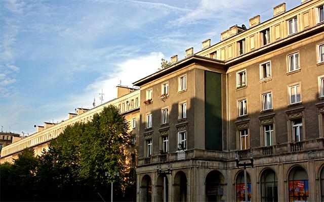 Edificios arquitectura soviética barrio Nowa Huta Cracovia