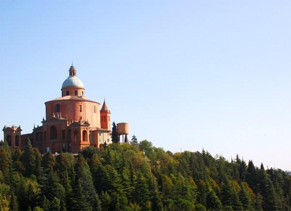 Panorámica Basilica di San Luca Bolonia bosque Bolonia