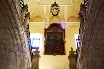 Cuadro escaleras interior Monasterio Uclés Cuenca