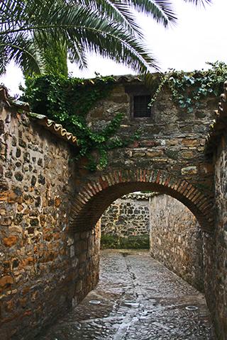 Calles peatonales piedra interior Baeza Jaén