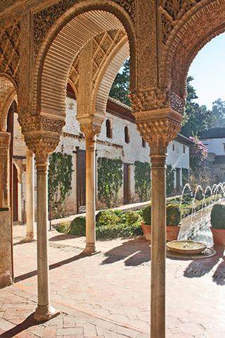 Decoracion arcos en el Generalife