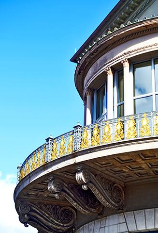 Decoración oro Art Nouveau balcón Hannover