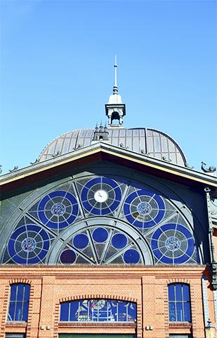 Fachada estación tren Altona Hamburgo Alemania