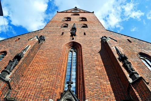 Picado fachada ladrillo Iglesia San Pedro Hamburgo