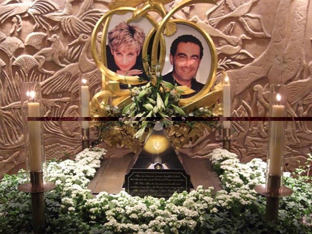 Dodi Al-Fayed Diana de Gales memorial Harrods Londres