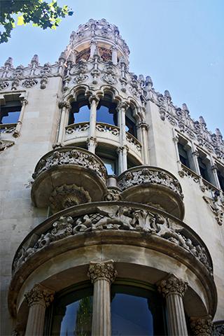 Fachada edificio Domenech y Montaner Modernismo Barcelona