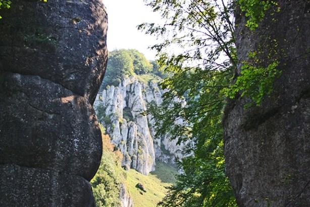 Mano gigante formación rocosa calcárea Parque Nacional Ojców Cracovia