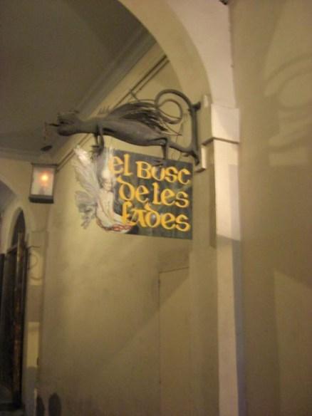 El bosc de les fades - cafe del Museu de Cera