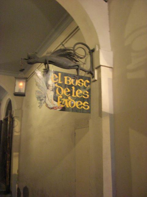 Rótulo Bosc de les fades Museo Cera Barcelona