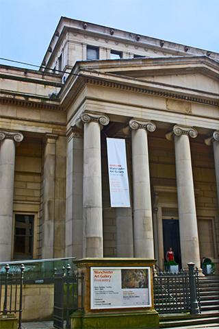 Columnas dóricas fachada galería de arte Manchester