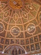 Cúpula dorada Sala dos Brasoes Palacio de Sintra Portugal
