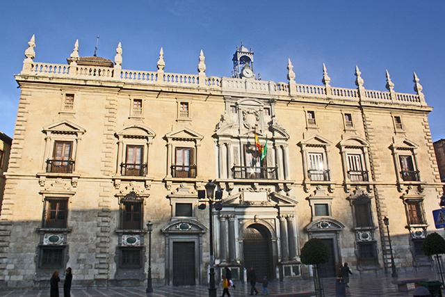 Fachada Chancillería Real plaza Nueva Granada