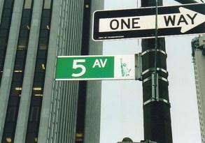 Fifth Avenue street signals