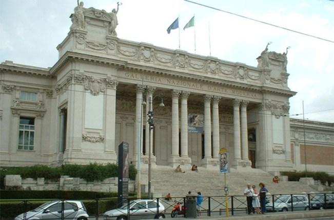 Fachada Galería Nacional Roma Italia