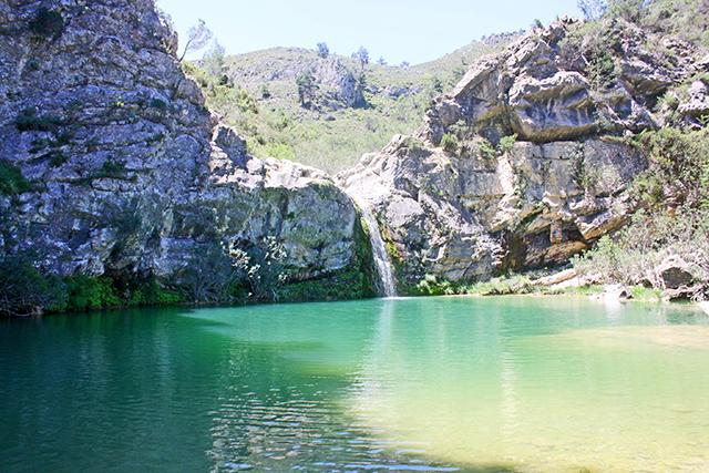 Salto Gorg Planes Sierra Alicante Barranco Encanta