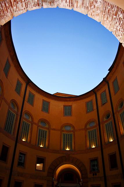Contrapicado patio Teatro Comunale Ferrara