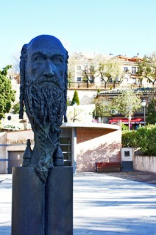 Escultura rostro Samuel Halevi judío Toledo