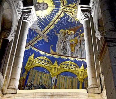 Grande mosaique du Christ de Merson et Magne