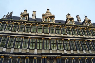 Fachada vivienda siglo XVII Gante Bélgica