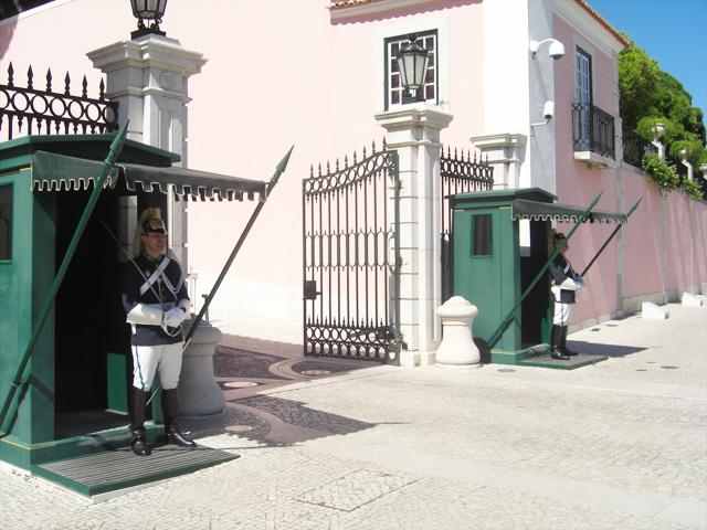 Guardia Republicana entrada Residencia Primer Ministro Portugal