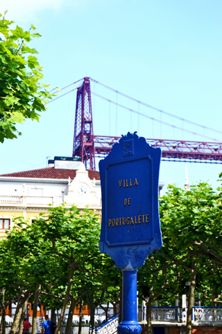 Placa Villa de Portugalete Puente Colgante Bizkaia País Vasco