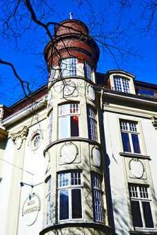Esquina torre ventanas decoración barroca Palacio Oldenburg