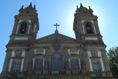 Fachada decoración siglo XV torres Bom Jesus do Monte