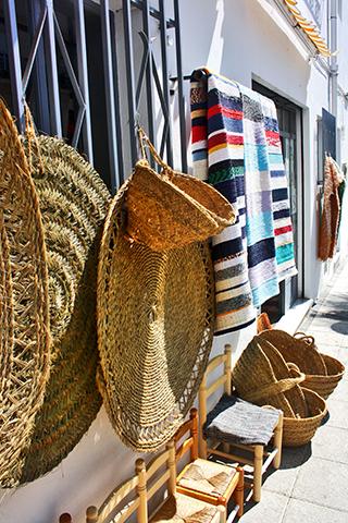 Jarapas mimbre esparto tiendas típicas Níjar