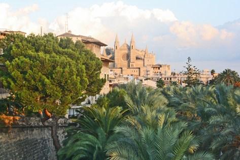 Vistas Catedral Palma Mallorca Parc del Mar