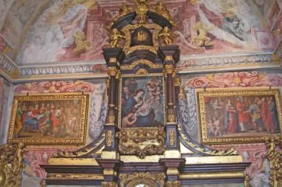 Decoración retablo Museo de Arte Sacro Sé Oporto