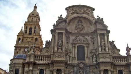 Fachada Catedral Murcia Gótico Barroco siglo XVIII