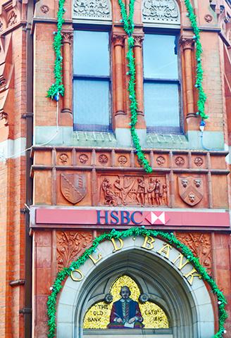 Friso Shakespeare fachada HSBC Stratford-Upon-Avon