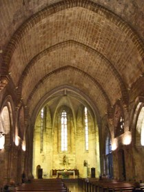 Interior románico iglesia San Juan del Hospital Valencia