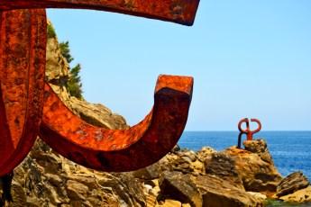 Acero Peine de los Vientos Chillida escultura San Sebastián Donosti