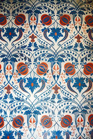 Mosaico texturas tapiz renacentista flor de lis castillo Blois Francia