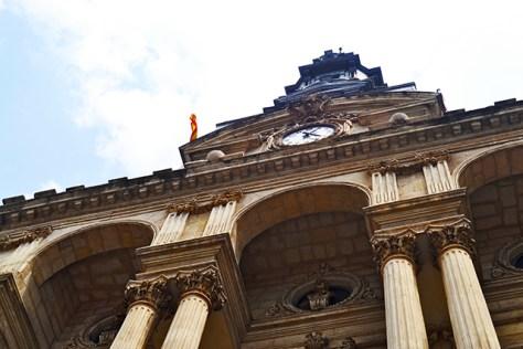 Picado fachada estilo ecléctico Joaquín Rucoba ayuntamiento Bilbao